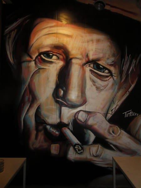 muurschildering-RLGC-Keith-Richard-portret-kleur-roling-stones-drummer-spuitbus-acry