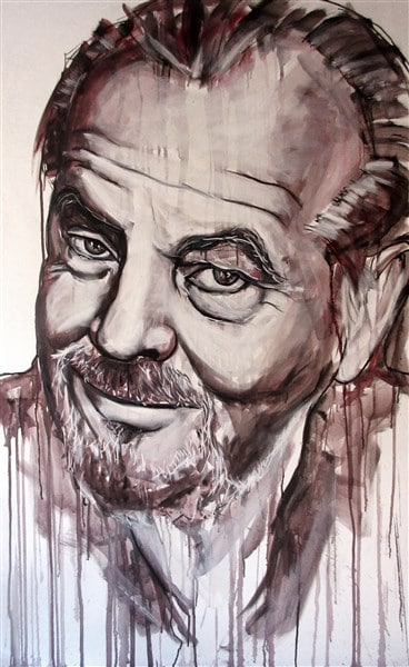 schilderij portret Jack Nicholson canvas acryl filmacteur (368 x 600)