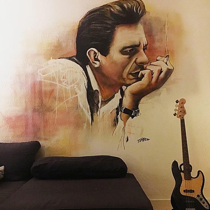 11.Johnny cash met gitaar