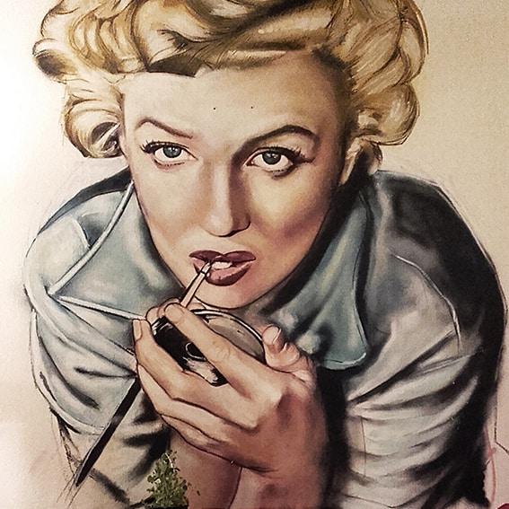 Portret Marilyn Monroe