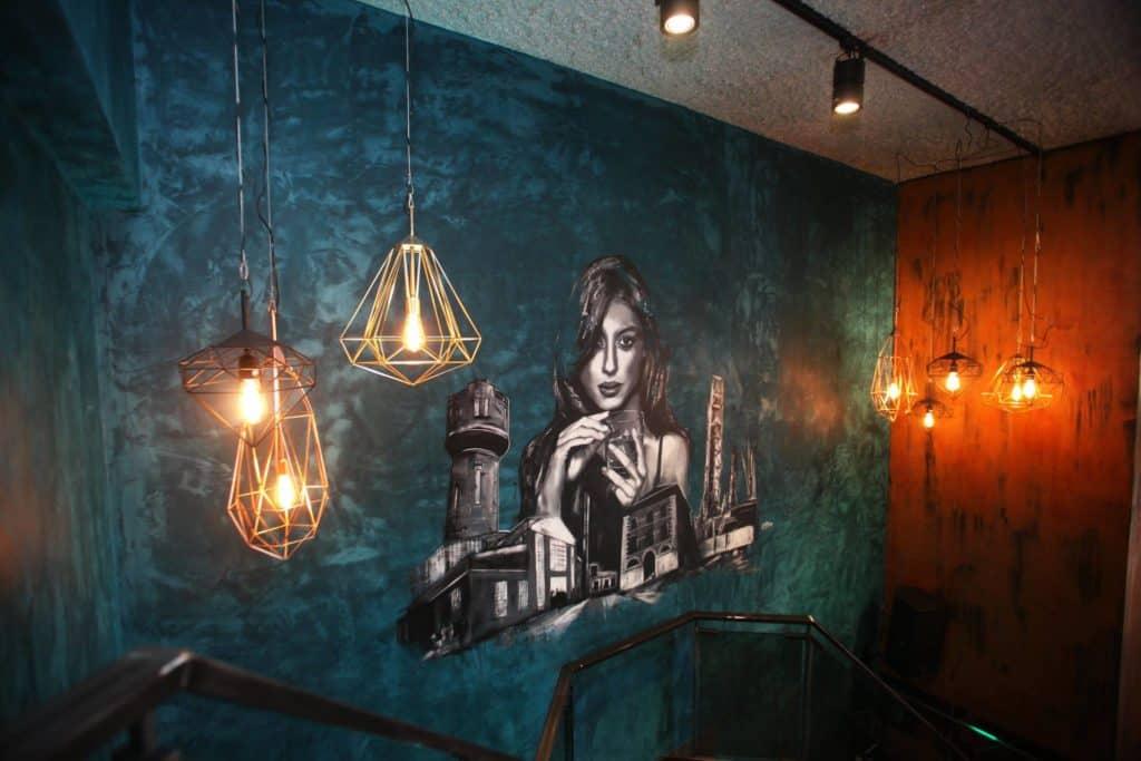 muurschildering restaurant flow den helder