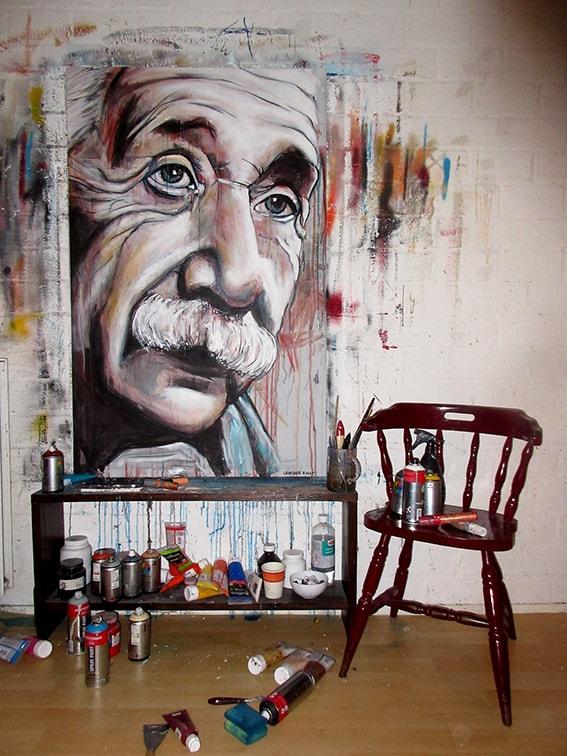 portret schilderij albert einstein